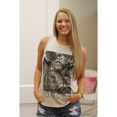 Another great printed tank-London! S.M.L $16 | Lubella's Boutique - Bartlesville, OK