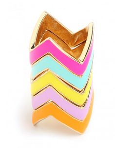 stackable chevron rings