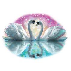 Glitter Swan Exotic Bird T SHIRT, Sweatshirt, Quilt Fabric Block  Item no. 781 by AlwaysInStitchesCo on Etsy
