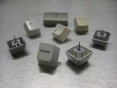 DIY Keyboard Thumbtacks by instructables #Thumbtack #Keyboard