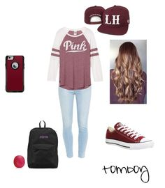"""""""normal day"""" by marina1516 ❤ liked on Polyvore featuring OtterBox, JanSport, Eos, Converse and Paige Denim"""