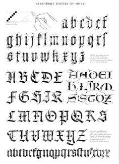 Calligraphie claude mediavilla ductus by Ruben Fernando Olea Ramirez - issuu Gothic Script, Gothic Lettering, Tattoo Lettering Fonts, Graffiti Lettering, Lettering Styles, Lettering Design, Calligraphy Templates, Calligraphy Lessons, Calligraphy Tutorial