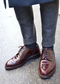 Alden longwings in cordovan? Gorgeous shoes. Via Randomitus
