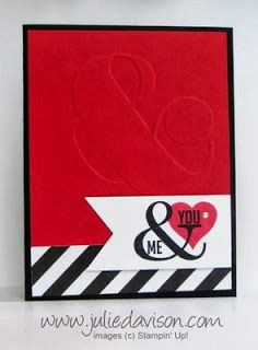 Stampin' Up! Occasions Catalog: Perfect Pennants card with Ampersand Embossing Folder