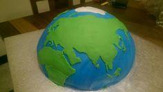Wereldbol taart