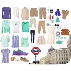 Idea for clothes to pack for europe-- like the idea of keeping to a color scheme.