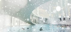 """We are pleased to introduce you to Nikole Bouchard, the 1st prize winner of """"Baltic Thermal Pool Park"""" architecture competition!    """"Architecture Vision Competitions are a great opportunity to discover the unknown, to exercise your imagination, to collaborate with peers and to test out your wild ideas. The abbreviated timeline and competition format forces you to think and communicate quickly and clearly - Skills that are invaluable in the Architectural Profession."""" - Nikole Bouchard"""