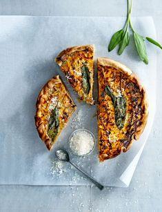 I Love Food, Good Food, Yummy Food, Tarte Tartin, Alice Delice, Parmesan, Cooking Recipes, Vegetarian Recipes, Vegetarian Quiche