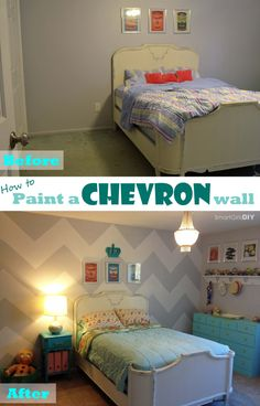 Smart Girls DIY: How to paint a chevron wall
