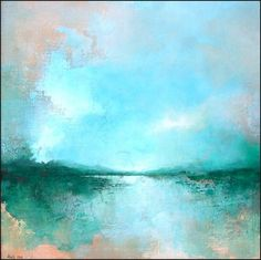 Abstract landscape paintings of seascapes
