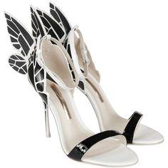 Sophia Webster Sandals (1.965 BRL) ❤ liked on Polyvore featuring shoes, sandals, monochrome, sophia webster, butterfly sandals, butterfly shoes, sophia webster shoes and toe strap sandals