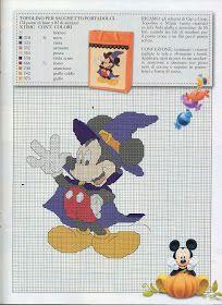♥Meus Gráficos De Ponto Cruz♥: Halloween com Personagens Disney em Ponto Cruz