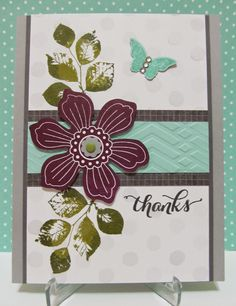 Savvy Handmade Cards: Bloom for You Thanks Card
