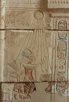 Akenatón i Nefertjiti    Museu Egipte   Cairo