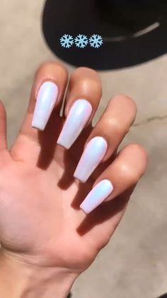 92 perfect fall nail polish colors in 2018 page 13 Shellac, Gel Nails, Nail Nail, Best Acrylic Nails, Acrylic Nail Designs, Blue Nails, White Nails, Ongles Baby Blue, Chrom Nails
