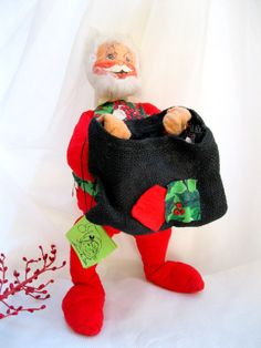 LARGE Annalee Santa18 inch1976MobiliteeAdjustable by tessiemay, $27.00