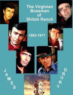 Shiloh Ranch, Doug Mcclure, James Drury, Tv Show Music, Actor James, The Virginian, Old Movies, Westerns, Tv Shows