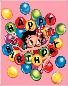 Betty Boop # 12 - 8 x 10 Tee Shirt Iron On Transfer Happy Birthday