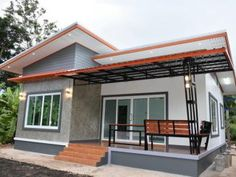 new Ideas exterior rustic homes craftsman house plans Small Modern Bedroom, Small Modern Home, Modern Bedrooms, Modern Loft, Small House Interior Design, Modern House Design, Small Cottage Designs, Bungalow Haus Design, Village House Design