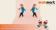 Attipas shoes are designed based on kinetic and physio-dynamic testing of toddlers walking.⠀ ⠀ These shoes enable steady and stable walking patterns, help brain development and evenly distribute foot pressure. Baby Sneakers, New Sneakers, Baby Shoes, Little Ones, Little Girls, Baby Kids, Baby Boy, Rainbow Shoes, Stylish Baby