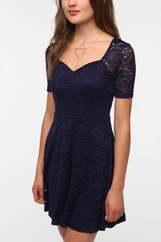 Pins and Needles Sweetheart Lace Dress...excited to bring lace into the fall!!!