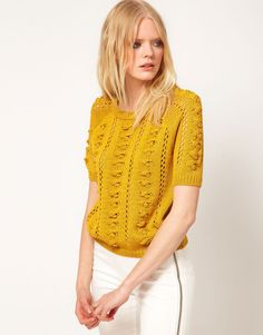 Fluro Knit Sweater in cotton/polyester | Seed Heritage | Tops and ...