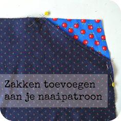 Heb je een naaipatroon van een leuke rok of broek, maar heeft het patroon geen zakken? Dan kun je het patroon heel eenvoudig aanpassen!...