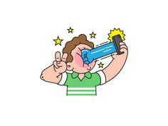 Dribbble - Selfie Punch by Markus Magnusson
