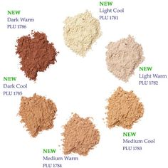 New Mineral Foundation from Neal's Yard Remedies in 6 shades! I LOVE these!!  Medium Cool is my color :)