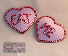 RTW Lavender Eat Me Heart Shaped Pasties  by sugarkittycorsets, $22.00