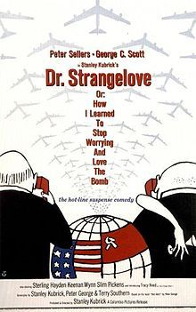 Dr. Strangelove or: How I Learned to Stop Worrying and Love the Bomb, commonly known as Dr. Strangelove, is a 1964 black comedy film which satirizes the nuclear scare. It was directed, produced, and co-written by Stanley Kubrick, starring Peter Sellers and George C. Scott, and featuring Sterling Hayden, Keenan Wynn, and Slim Pickens.