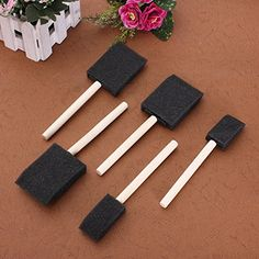 Sponge Wooden Handle Paint Craft Glass Glitter Brush -- Be sure to check out this awesome product.