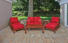 patio table backyard creations 7 piece ashland deep seating collection - Backyard Creations Patio Furniture