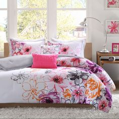 Intelligent Design Cassidy Floral Comforter Set  found at @JCPenney  OMG, i want this for my back room. Its like someone predicted this was perfect for me. yes. I don't even have the bed or the room painted, but i will have this.