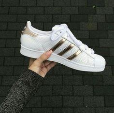 sale retailer e2bf8 d3117 shoes adidas orginals white gold rose gold adidas superstar stan smith  white sneakers adidas shoes adidas superstars shorts white gold white shoes  adidas ...