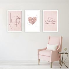 Home Decor Signs, Home Decor Wall Art, Home Office Decor, Living Room Decor, Gold Rooms, Gold Bedroom, Room Ideas Bedroom, Bedroom Decor, Pink Room