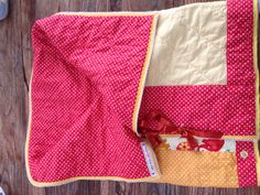 Quilted, patchwork baby snuggly blanket