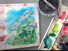 Sponge masking to create Queen Anne's Lace wildflowers with a loose dramatic background. Deb Watson demonstrates how to paint watercolor wildflowers in a fun...