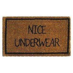 Nice Underwear Mat - funny