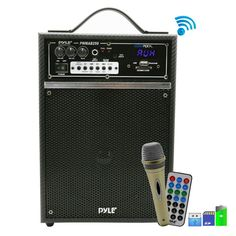 ... Wireless Bluetooth Portable PA Speaker inch Subwoofer Sound System with  USB SD Card Reader 06926b5be92f9