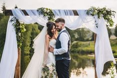 Wooden Frame Arbour Fabric Flowers Backdrop DIY Home Barn Tipi Wedding Marta May Photography Tipi Wedding, Home Wedding, Wedding Ceremony, Wedding Dresses, Wedding Backdrops, Wedding Ideas, Diy Backdrop, Flower Backdrop, Ceremony Backdrop