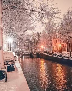 Hi, I'm Gabriel, a photographer based in Amsterdam, The Netherlands. Below you can see a small part of the snowy moments from the most famous places in Amsterdam - Dec Winter Szenen, Winter Magic, Winter Night, Winter Time, Winter Walk, Winter Coat, Beautiful World, Beautiful Places, Wonderful Places