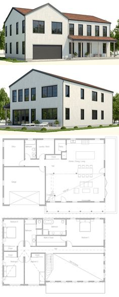 Modern House Plans & House Designs in Modern Architecture. Dream House Plans, Modern House Plans, Small House Plans, House Floor Plans, Building A Container Home, Container House Plans, Container Homes, Different House Styles, Sims House