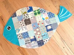 Fish Mat shown on SewTakeaHike, made from a pattern by Ayumi Mills published in Stitch Magazine