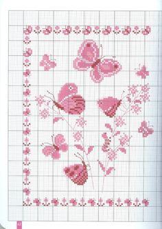 Ricamo e schemi a puntocroce gratuiti tante farfalle da for Schemi punto croce farfalle