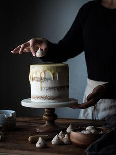 Vanilla Bean Butter Cake + White Chocolate Mousse & a 3 Year Blogiversary! - The Kitchen McCabe