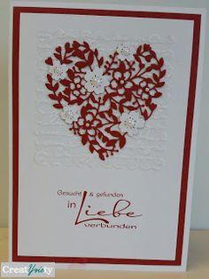 CreatYviety: Hochzeitskarte