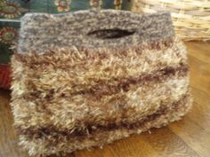 Tiger brown furry felted bag SALE by miripratt on Etsy