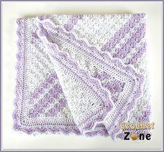 Confetti Baby Blanket CZ113 By MA Santos - Free Crochet Pattern - (ravelry)