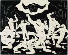 "hifructosemag: ""Cleon Peterson portrays the brutal struggles between an army of warring figures in his monochromatic illustrations reminiscent of Grecian pottery. Previously featured on our blog here,..."